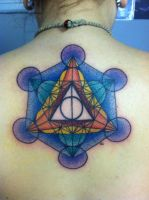 The Metatron Cube, Deathly Hallows by kayden7