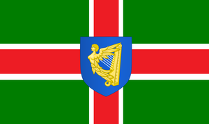 Flag of the Kingdom of Ireland (House of Stuart) by ramones1986