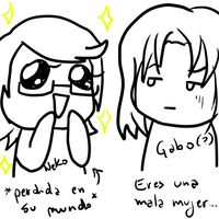 .: Gabo loves me -w- :. by OhAnika