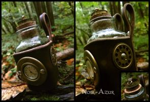 Steampunk potion holster by Noir-Azur