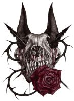 Wolf skull by xX-Samira-Hunter-Xx