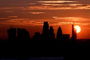 Sunset over London by Lionpelt-66