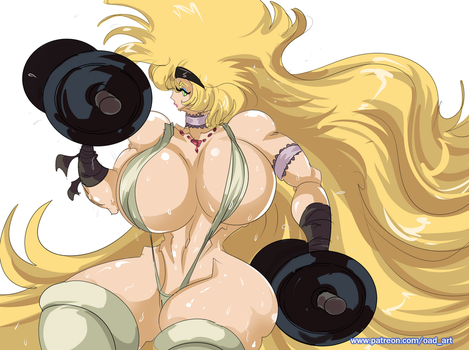 [P] Super Strong Babe Working Out 2 by OAD-art