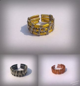 Wowen wire rings by Infera1