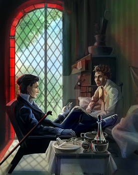 Tarot 'Master and Margarita', I, Magus (fix) by XGingerWR