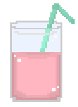 pixel pink drink by FourSidedTringle