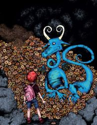 Beatl and the Bagel Dragon by EvelArtGirl