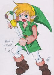 Oracle of Seasons Link by Silviadevianart