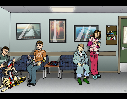 Hospital Scenes - Waiting Room by MauserGirl