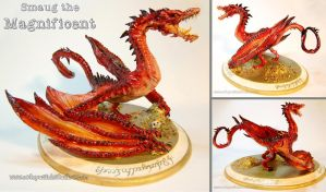 Smaug the Magnificent - Sculpture by DragonSpirit469