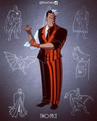 Two Face - White Knight - BTAS style by RickCelis