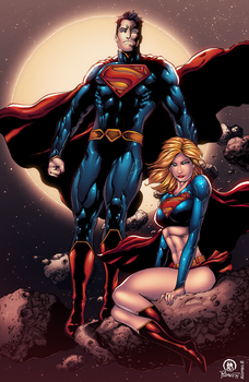 Superman and Supergirl by AlonsoEspinoza