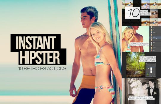 Instant Hipster - 10 Retro Actions by pstutorialsws