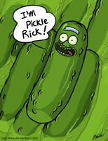 Rick and Morty - I'm Pickle Rick by caycowa