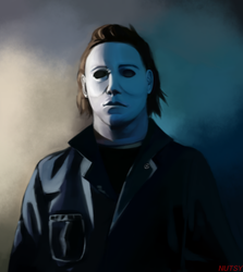 Michael Myers Painting by iNuts