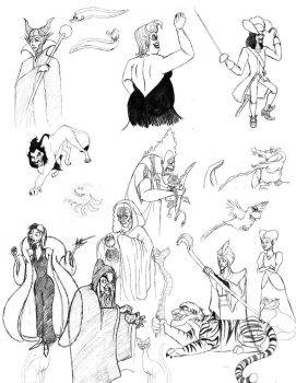 Disney Villain Poster Layout by HatedLove6