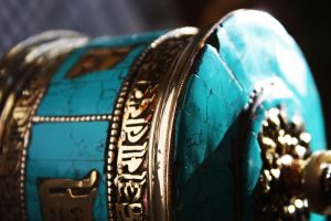 Turqoise Prayer Wheel by msilvestre