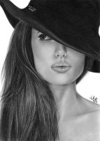 Pencil Drawing Angelina Jolie by iSaBeL-MR