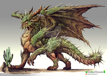 Cactus dragon design by Chaos-Draco