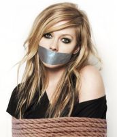 Avril Lavigne Rope Tied Tape Gagged by Goldy0123