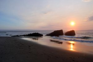 Lincoln City Sunset 1 by Cynnalia-Stock