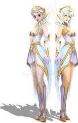 [MMD] Elementalist Elsa and Lux Render by HiccElsa32