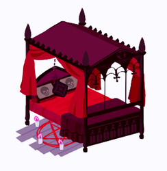 (GIF) Gothic Bed by Amphany
