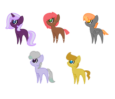 Random Pony Adoptables! (Closed!) by GhostBatters