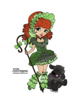 Mary's Little Lamb (colored) by SkekMara