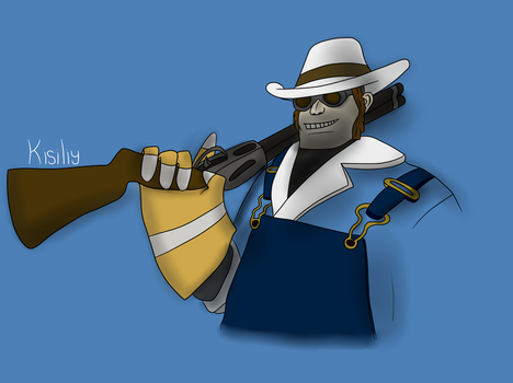 Engineer Loadout Drawing by Kisiliy