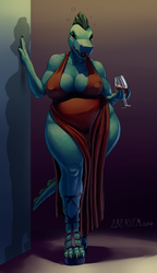 Dress and Wine [Commission] by GreasyMojo