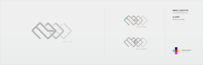 m0oo url shortener logotype by porcelainkid