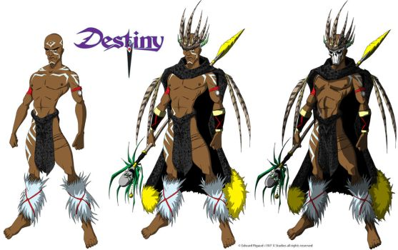 desTINY-witchdoctor colored by edwardrigaud