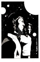 Spock Reflections issue 3 bw by BroHawk