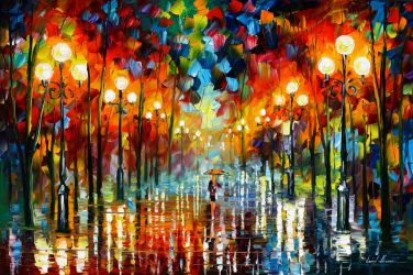 A Date With The Rain by Leonid Afremov
