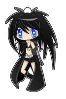Black Rock Shooter Keychain by BrittanysDesigns