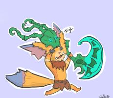 Gnar is just too cute! Thresh is not amused. by Avlivar