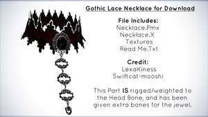Gothic Lace Necklace for Download [MMD] by xXFrenchToastXx