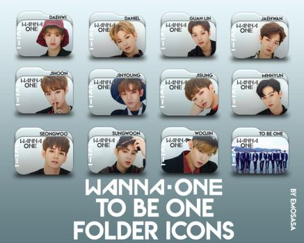 Wanna One 'To Be One' Folder Icons by emosasa