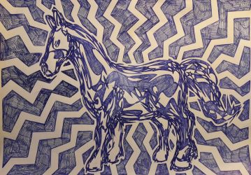 Electric horse by JanBennetsen