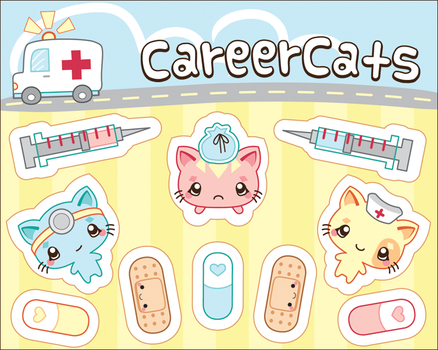 Vector - Career Cats by firstfear