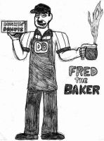 Fred the Baker- Break Time Sketch by jamesgannon