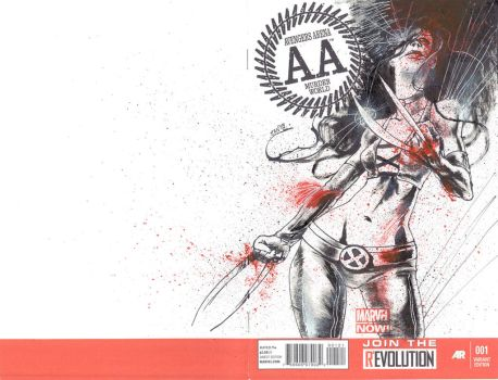 Avengers Arena sketch cover Panagiotis Vlamis by weaselpa