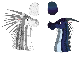 Egg Adopts - Icewing and Nightwing/Rainwing by TheEnchantedInk26