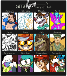 2016 Art Summary by AdriOfTheDead