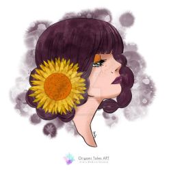 Lady Sunflower  by origamitales
