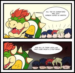 Bowser VS. FE boys by RayDango