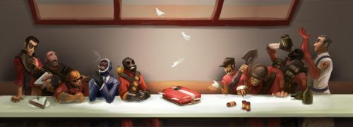 Team Fortress 2 - Last Supper by worksofheart
