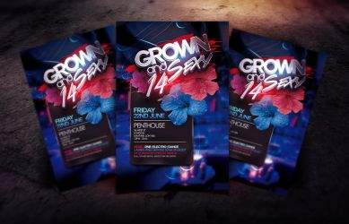 Grown and Sexy 14 Flyer Template by Dannygdesigns