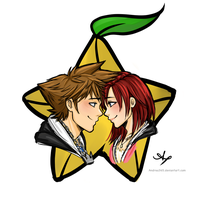 Day 04: Sora and Kairi by Andrea365